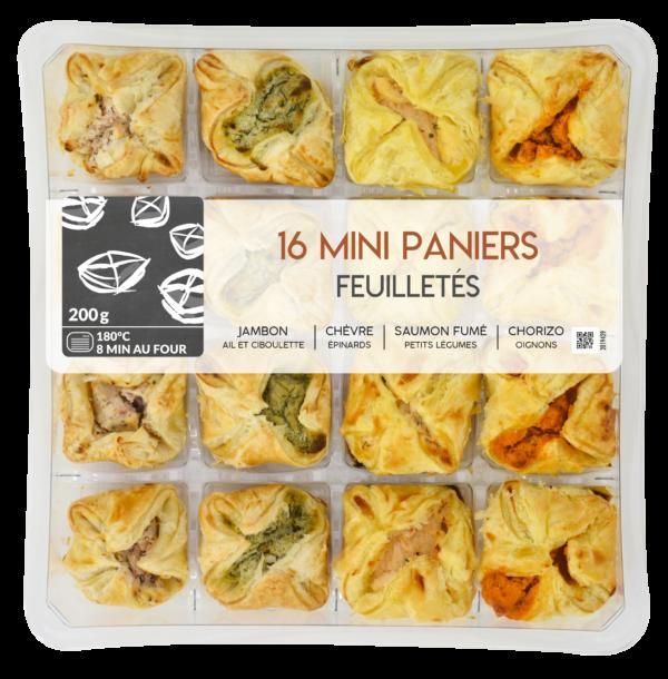 Mini Paniers Feuilletés 16 pièces