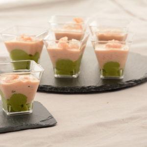 Verrine Avocat & Cocktail de crevette 12 pièces