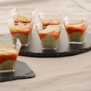 Verrine Tomates et Parmesan 12 pièces